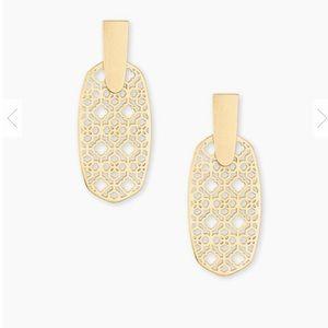 Kendra Scott Jewelry - Kendra Scott Aragon Gold Earrings in Gold Filigree